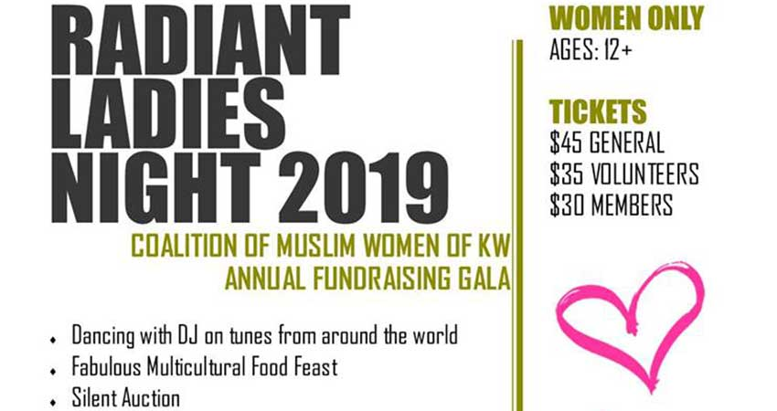 Coalition of Muslim Women - KW Radiant Ladies Night 2019 Gala Dinner