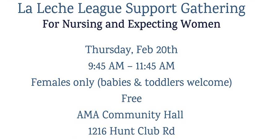 La Leche League Support Gathering for Nursing and Expecting Women (Arabic Translation Available)