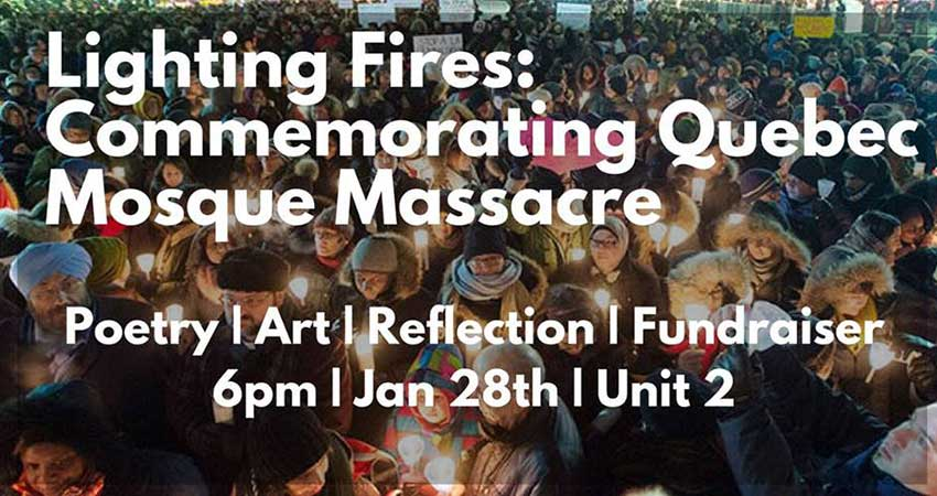 Lighting Fires: Commemorating the Quebec Mosque Massacre
