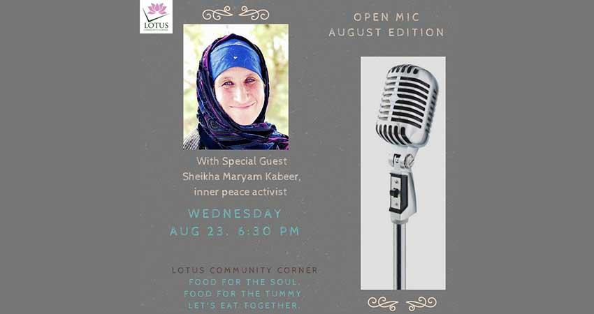 Open Mic with Sheikha Maryam Kabeer