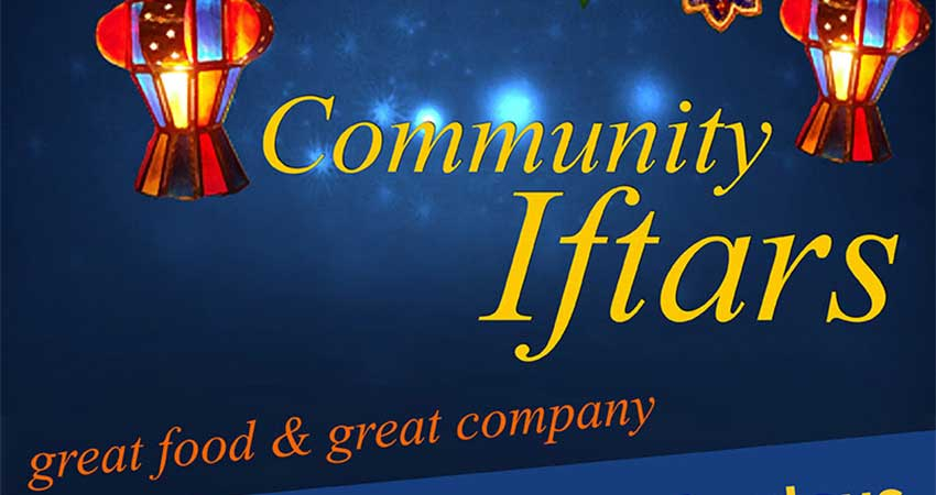 MAC Community Iftars Fridays and Saturdays