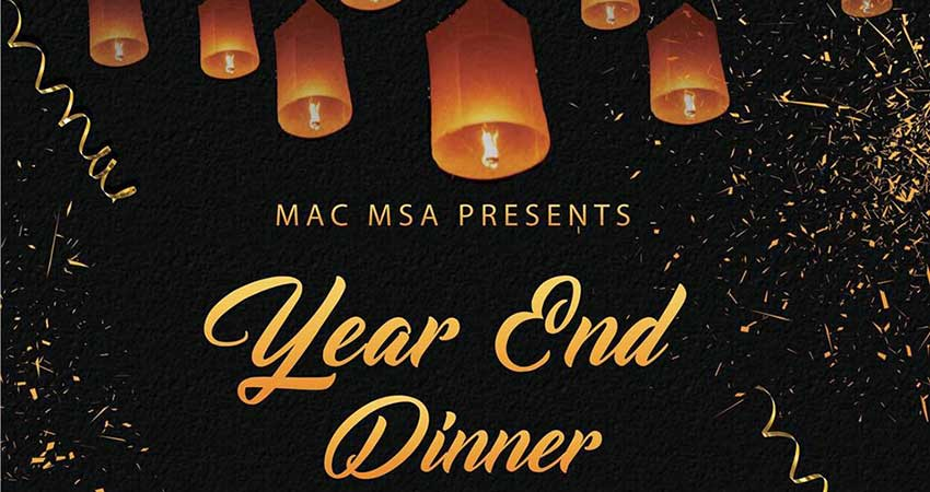 McMaster MSA's Year End Dinner