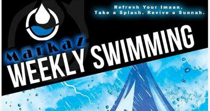 Markaz Weekly Brothers Swimming Program