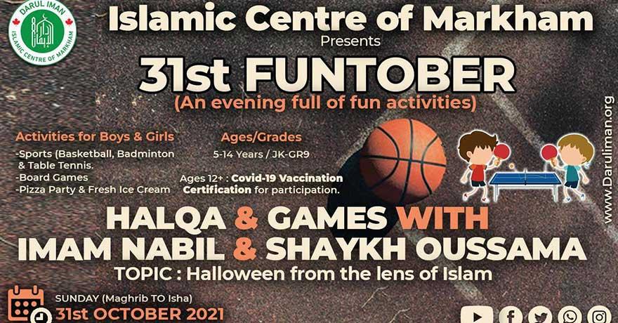 Masjid Darul Imam Funtober Halloween from an Islamic Lens (Fun Activities for Kids)