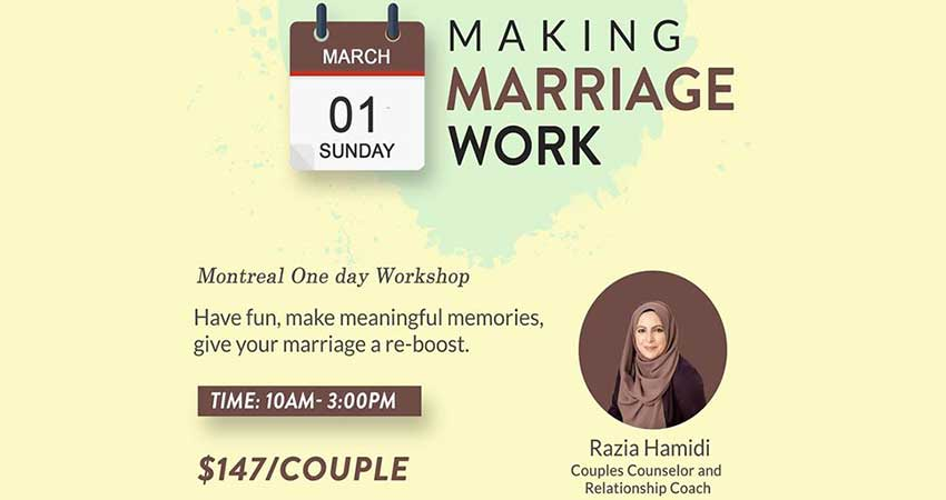 Making Marriage Work Montreal with Razia Hamidi