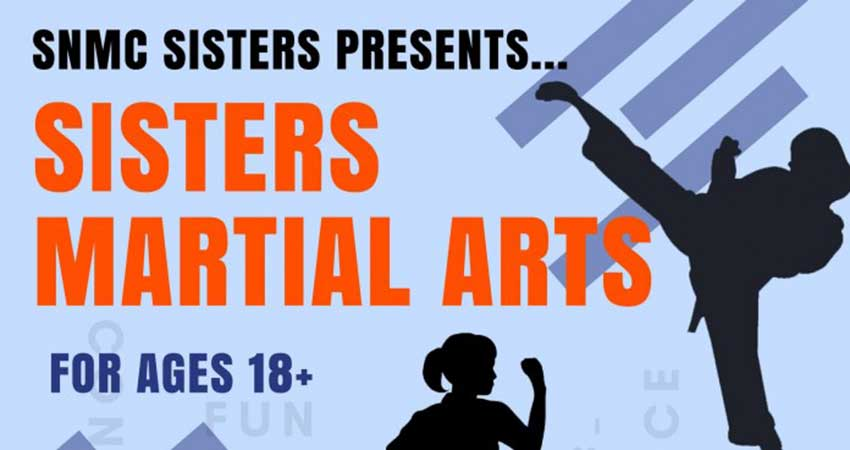 SNMC Sisters Martial Arts for Women Starts October 20