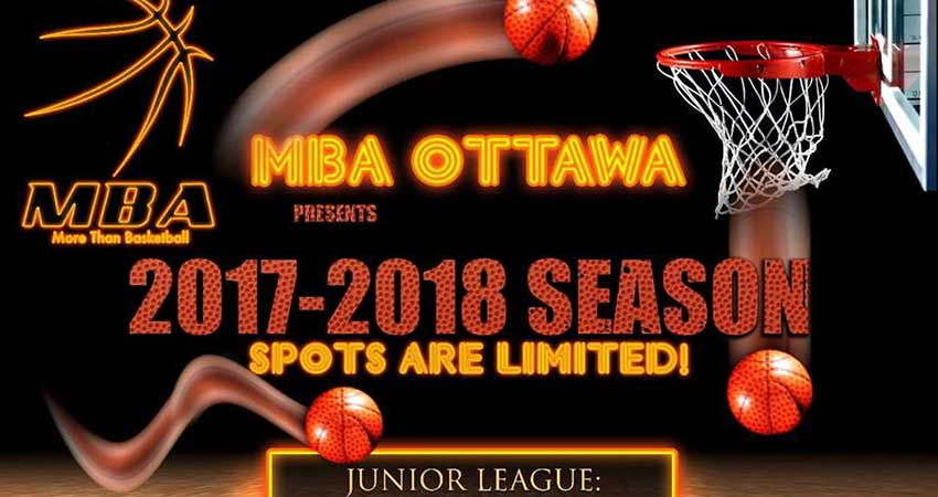 Muslim Basketball Association (MBA Ottawa) Junior League Season Starts Saturday Sept 23