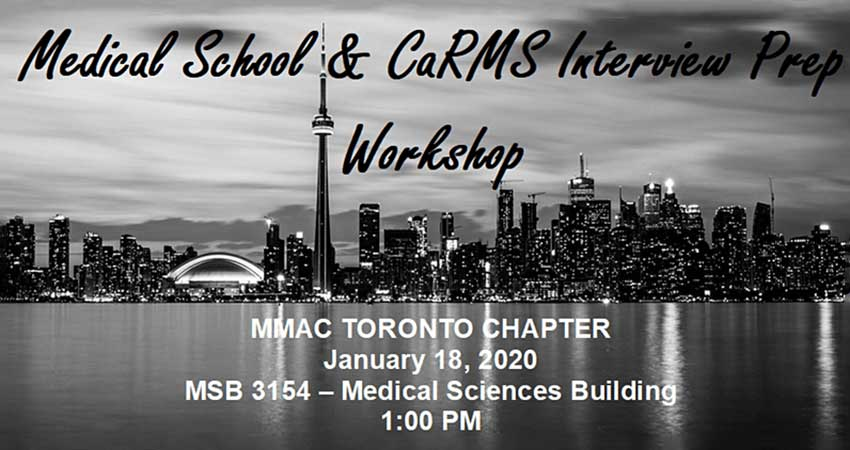 Muslim Medical Association of Canada Medical School and CaRMS Interview Prep Workshop
