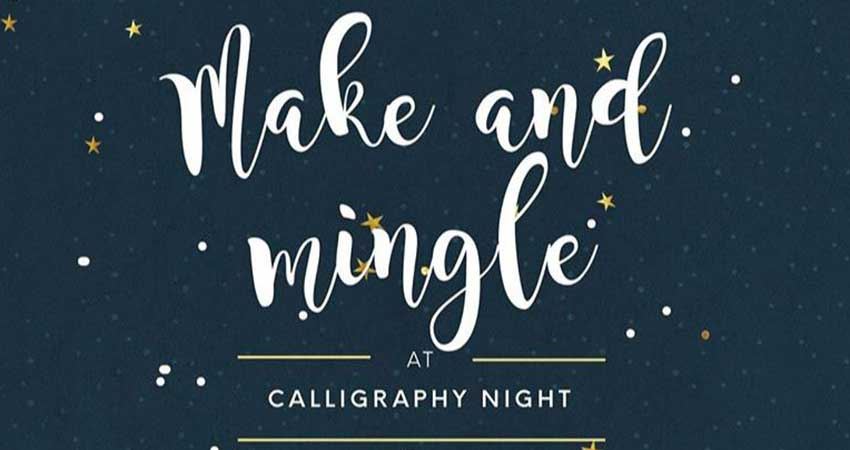 The Western Muslim Initiative Make and Mingle- Introduction to Calligraphy