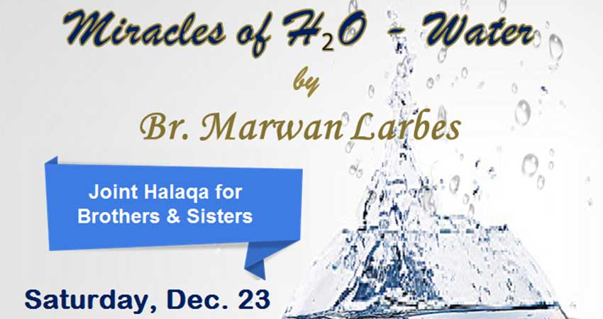 Miracles of Water with Br. Marwan Larbes