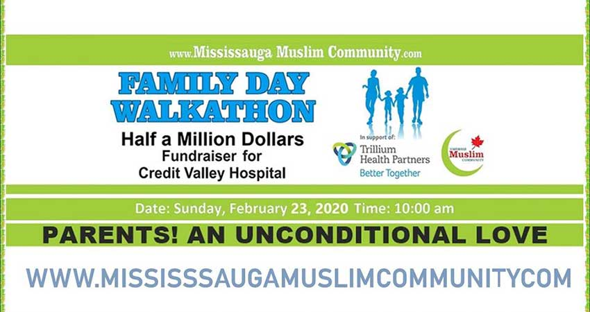 Mississauga Muslim Community Walkathon for Trillium Health Partners