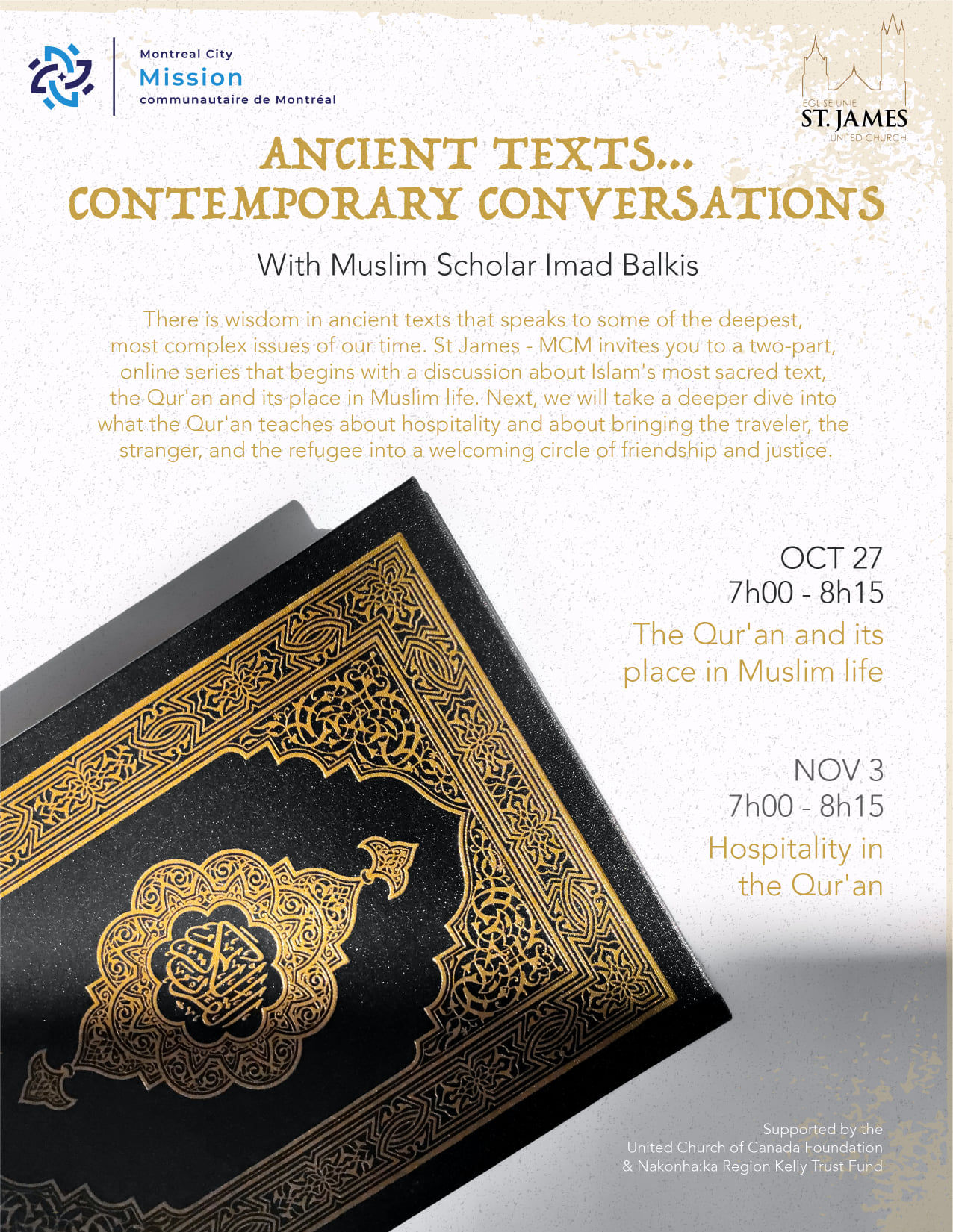 Montreal City Mission The Quran and Its Place in Muslim Life with Imad Balkis