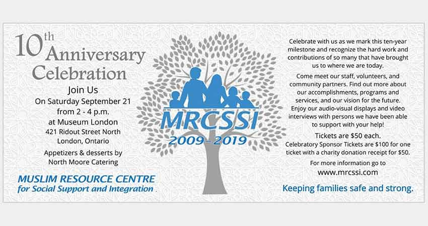 Muslim Resource Centre for Social Support and Integration 10th Anniversary Celebration