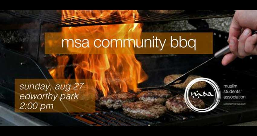 Muslim Students' Association at the University of Calgary Community BBQ