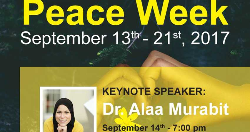 Peace Week at Dawson College with Dr. Alaa Murabit