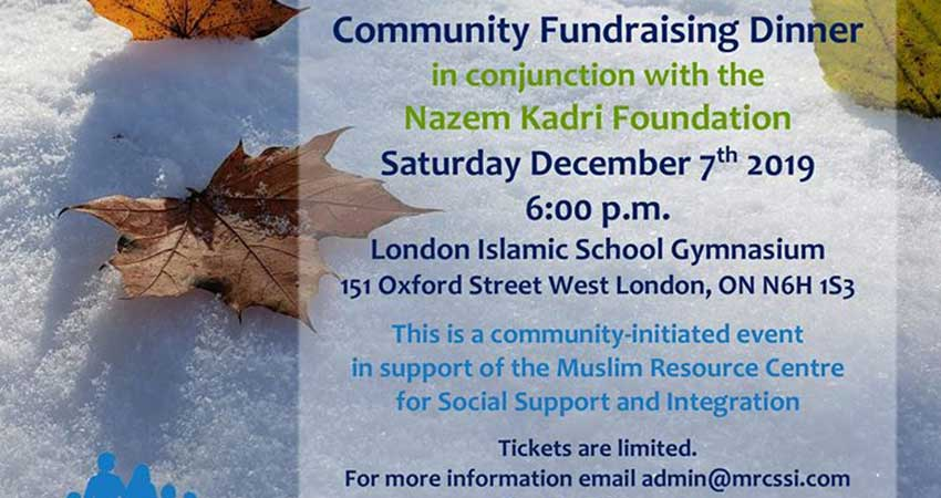 Muslim Resource Centre for Social Support and Integration Community Fundraising Dinner