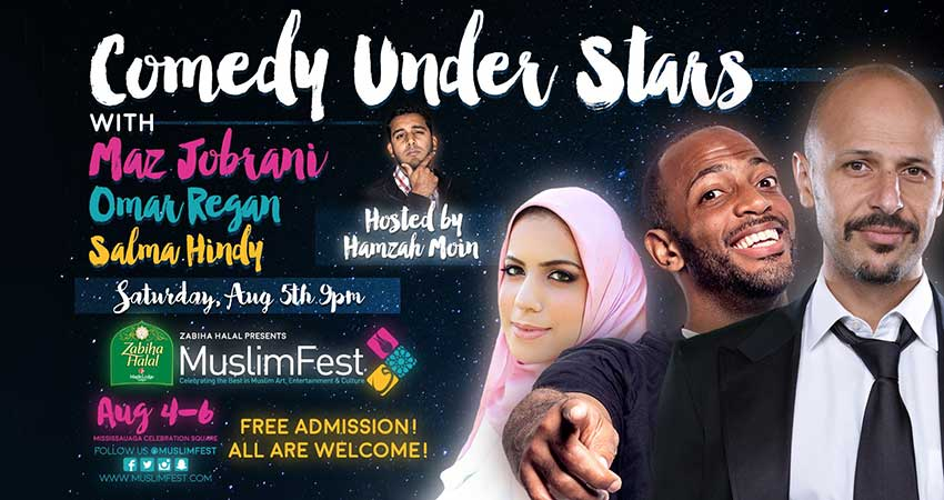 MuslimFest Comedy Under Stars With Maz Jobrani, Omar Regan & Salma Hindy