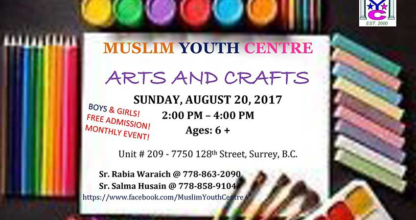 Muslim Youth Centre Arts and Crafts Day