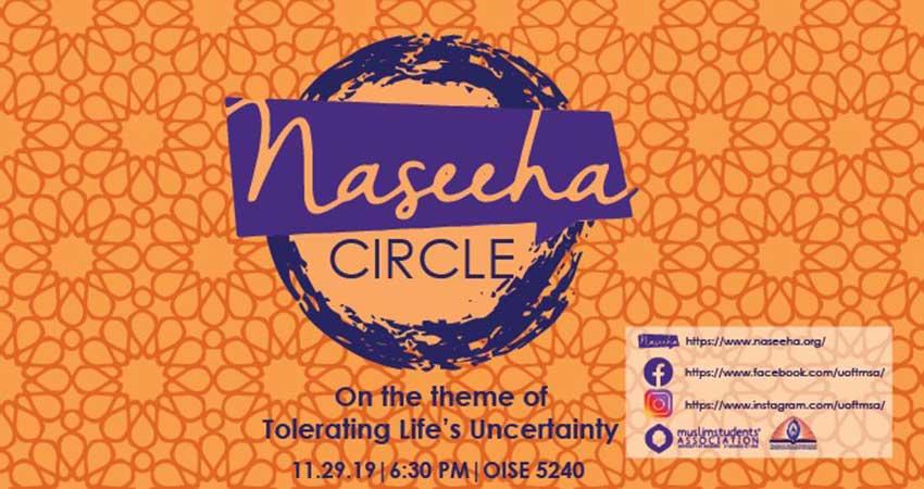 Naseeha Mental Health Naseeha Circle: Tolerating Life's Uncertainty