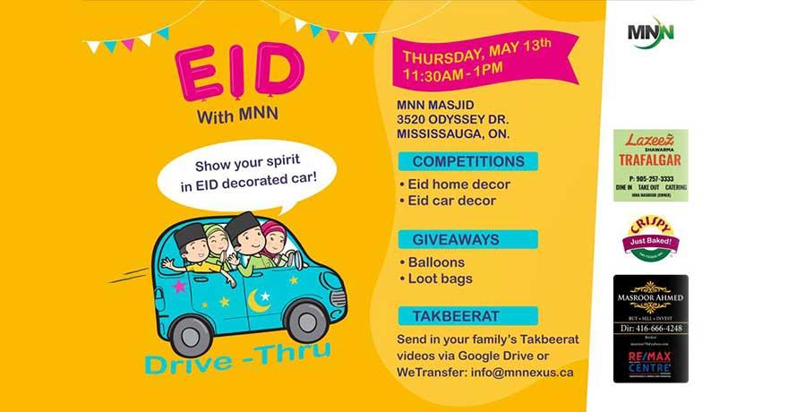 Muslim Neighbour Nexus Drive-thru Eid Festival Mississauga