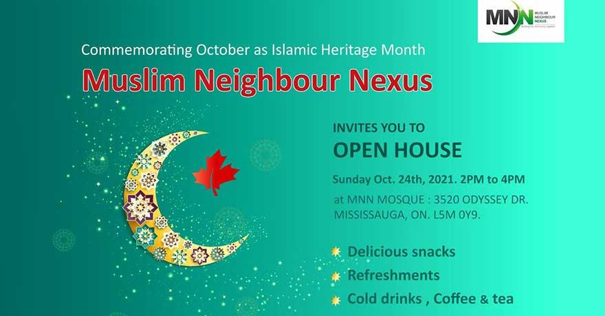 Muslim Neighbour Nexus Islamic Heritage Month Open House