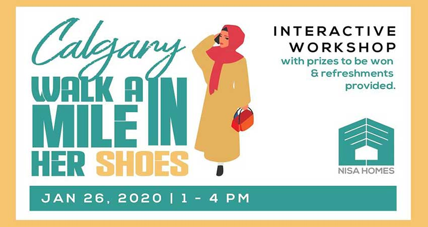 Nisa Homes Calgary's Walk a Mile in Her Shoes Interactive Workshop