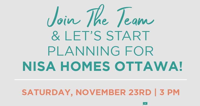Let's Plan for Nisa Homes Ottawa