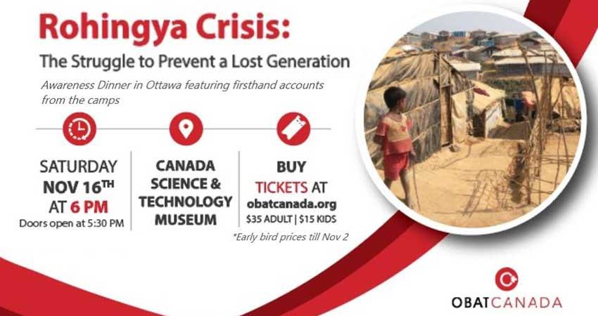 OBAT Canada Rohingya Crisis: Struggle to Prevent a Lost Generation