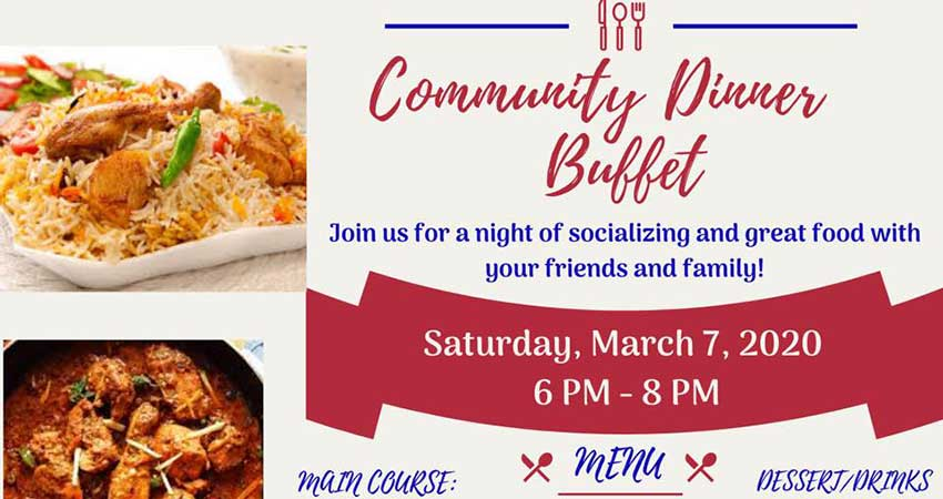 Ontario Muslim Academy Community Dinner Buffet