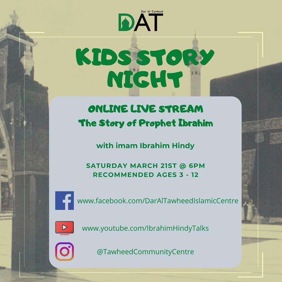 Online Kid S Story Night The Story Of Prophet Ibrahim Pbuh With