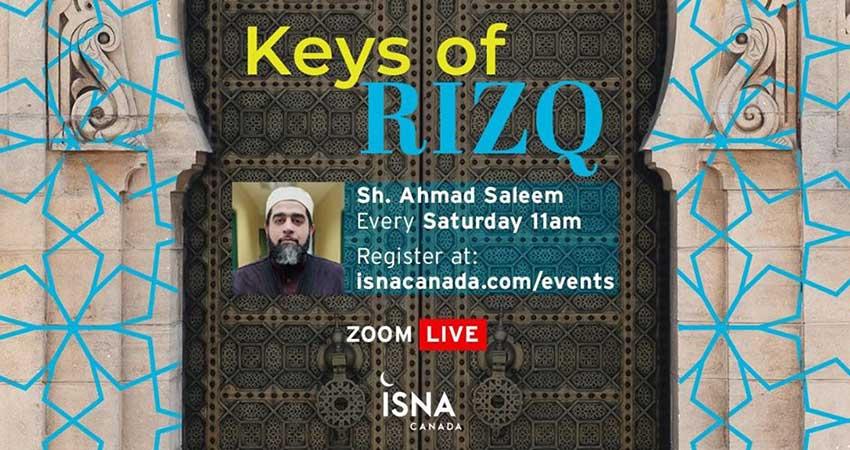 ONLINE ZOOM ISNA Canada Keys of Rizq