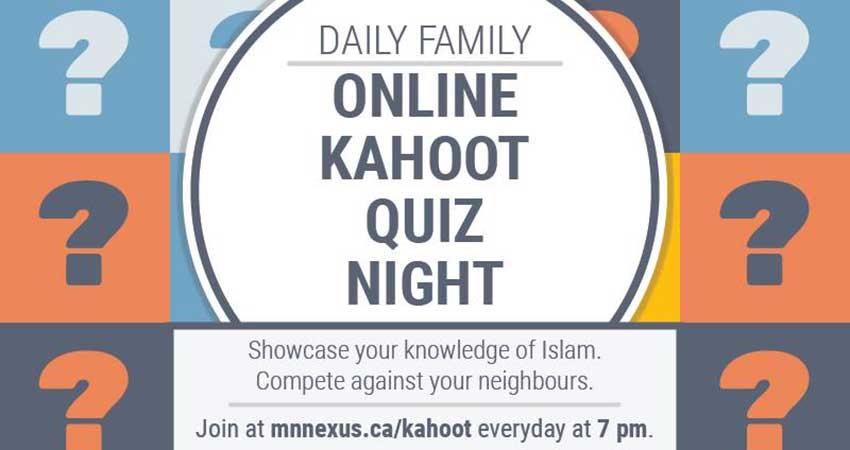ONLINE Muslim Neighbour Nexus Kahoot Quiz Night