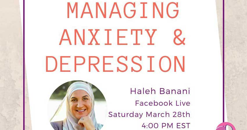 FACEBOOK LIVE Nisa Helpline Managing Anxiety and Depression with Haleh Banani