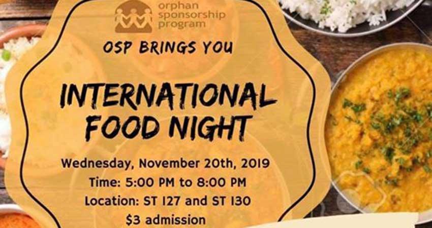 Orphan Sponsorship Program International Food Night