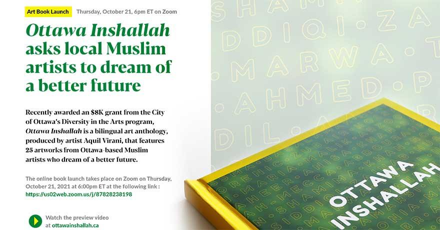 Ottawa Inshallah Muslim Artists Anthology Book Launch