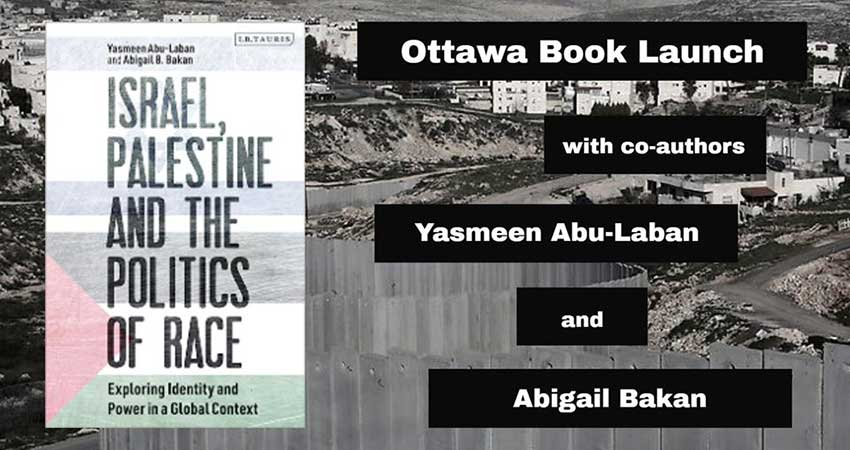 Book Launch: Israel, Palestine and the Politics of Race