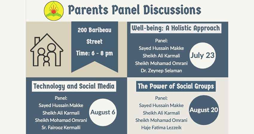 Ahlul Bayt Centre Well-being A Holistic Approach: Parents Panel Discussion