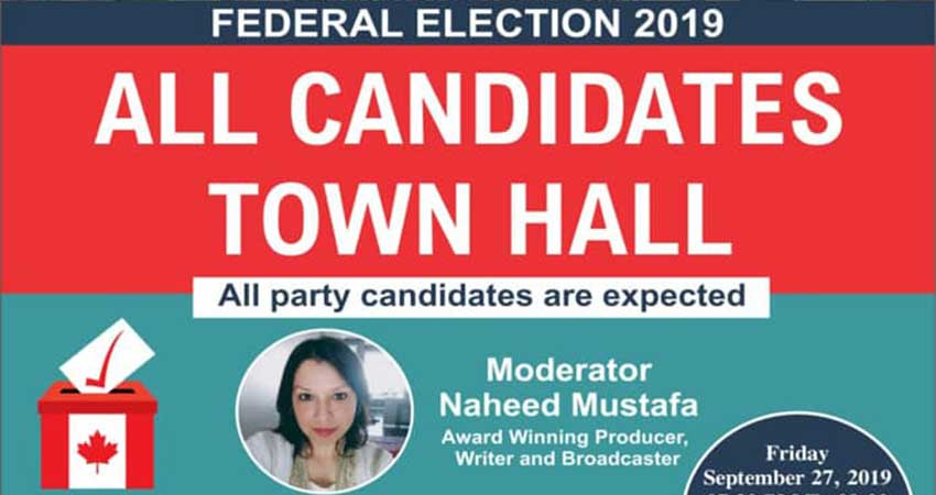 Muslim Council of Peel Federal Election 2019 All Candidates Town Hall