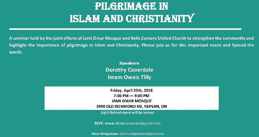Pilgrimage in Islam and Christianity at Jami Omar Mosque