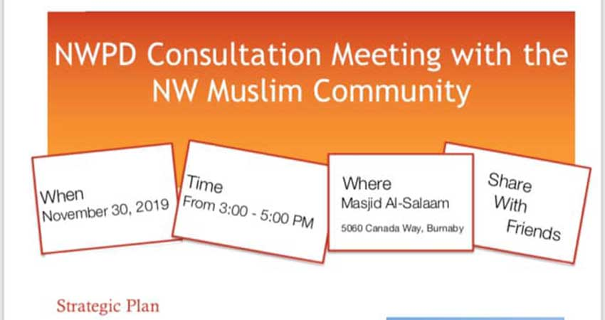 New Westminster Police Service Consultation Meeting with NW Muslim Community