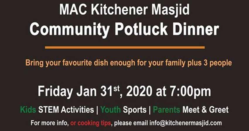 Kitchener Masjid Community Potluck Dinner
