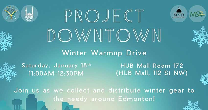 Ansar Youth Association Project Downtown: Winter Warmup Drive