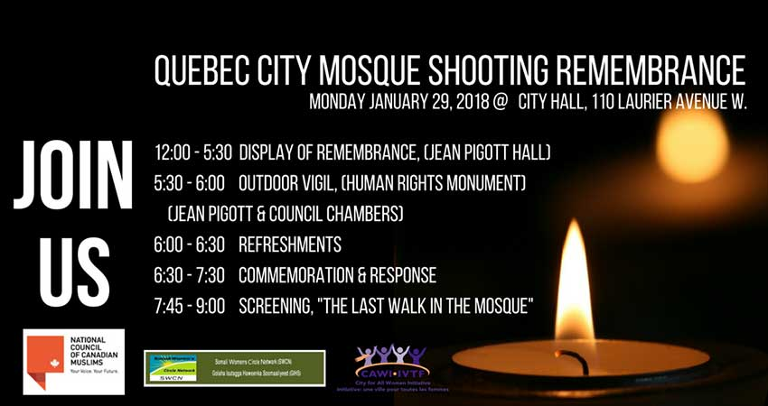 Quebec Mosque Shooting Remembrance
