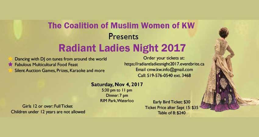 Coalition of Muslim Women - KW Radiant Women's Night 2017