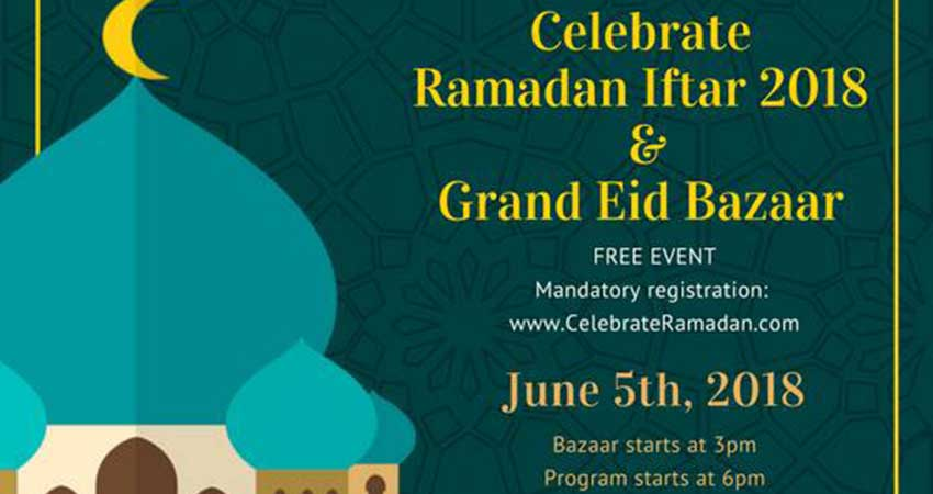 Dawanet & MuslimFest: Celebrate Ramadan Iftar and Grand Eid Bazaar- Building Bridges of Love and Compassion
