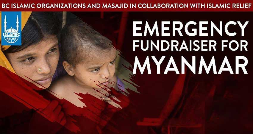 BC Organizations Emergency Fundraiser for Myanmar with Islamic Relief Canada