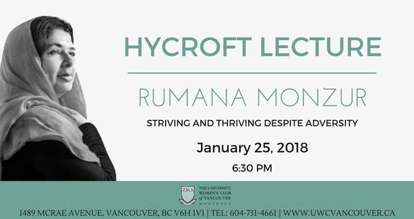 Hycroft Lecture with Rumana Monzur