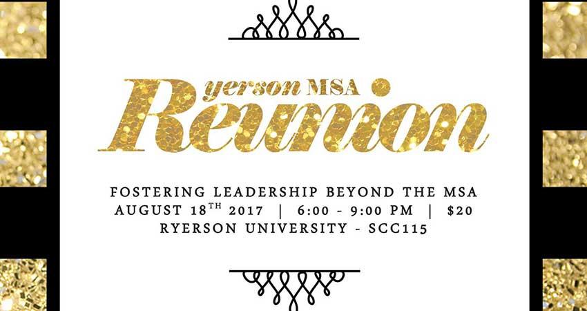 Ryerson MSA Reunion: Fostering Leadership Beyond the MSA
