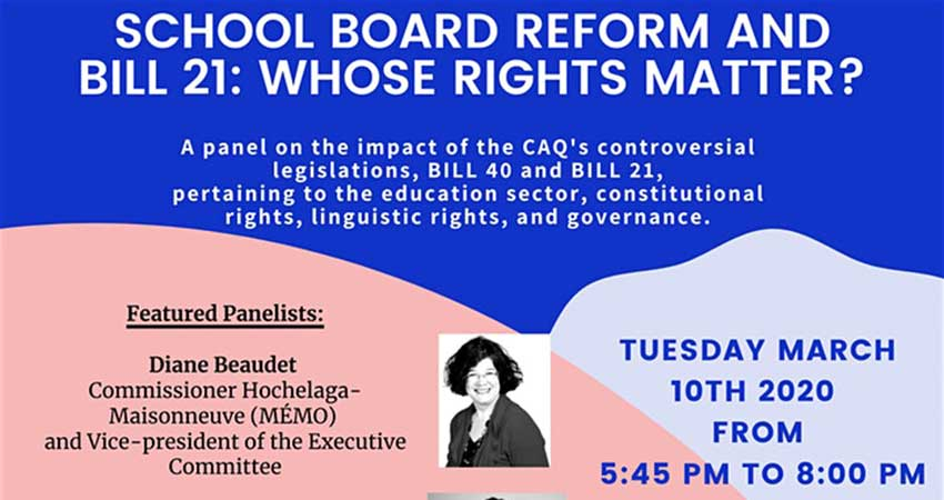 School Board Reform and Bill 21: Whose Rights Matter?