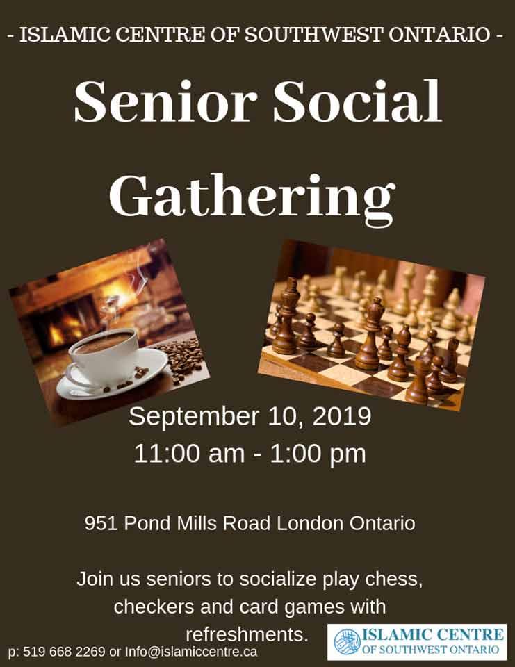 Islamic Centre of Southwest Ontario Seniors Gathering